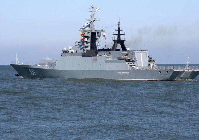 """Korweta """"Soobrazitielnyj Floty Bałtyckiej. Zdjęcie archiwalne"""