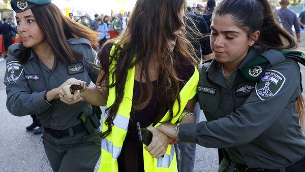 """Akcja protestacyjna """"żółtych kamizelek"""" w Izraelu - Sputnik Polska"""