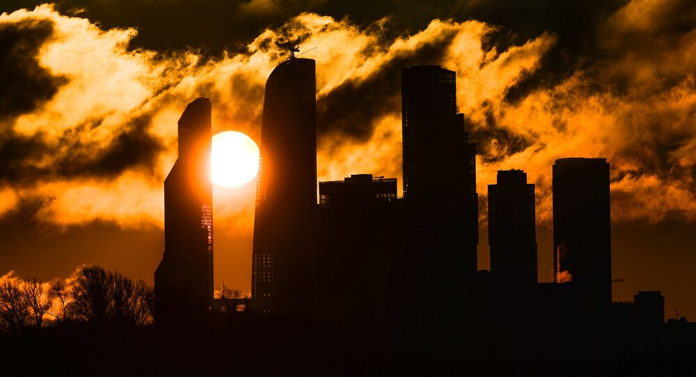 Wschód słońca nad Moskwa City