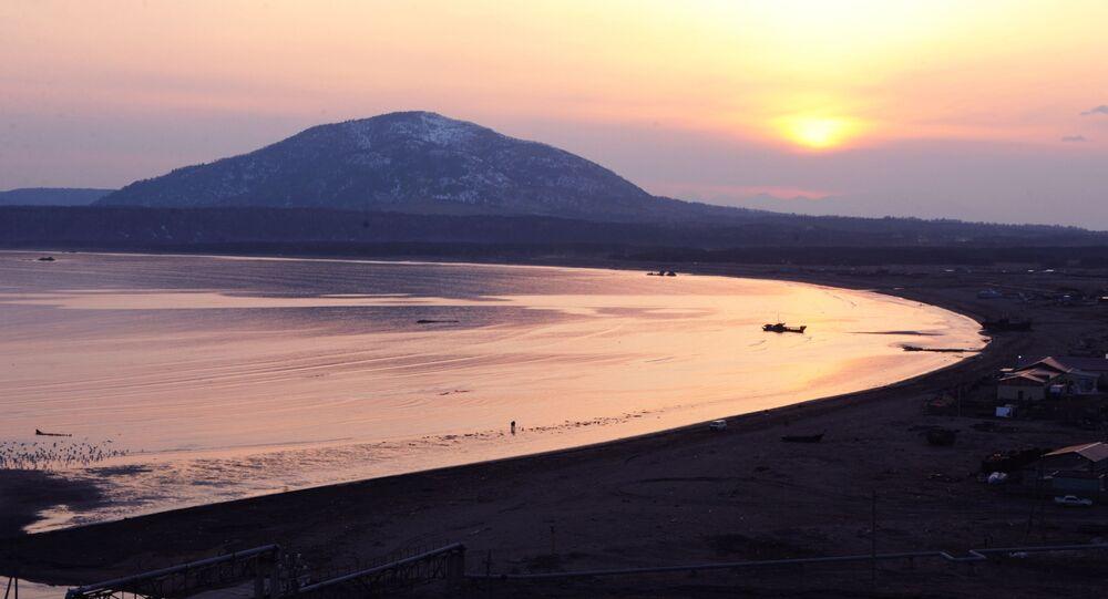 Wulkan Mendelejewa na wyspie Kunaszyr