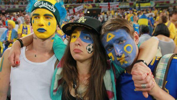 Ukraińscy kibice na Euro 2012 - Sputnik Polska