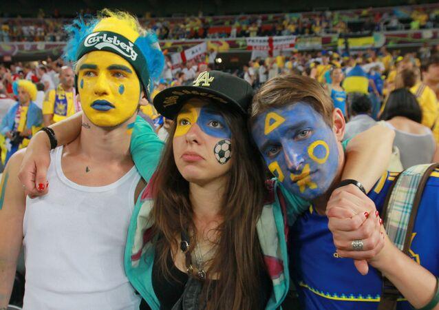 Ukraińscy kibice na Euro 2012
