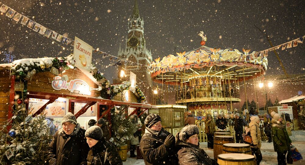 Noworoczny jarmark w Moskwie