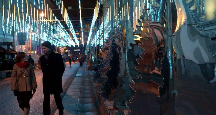 Noworoczne dekoracje w Moskwie