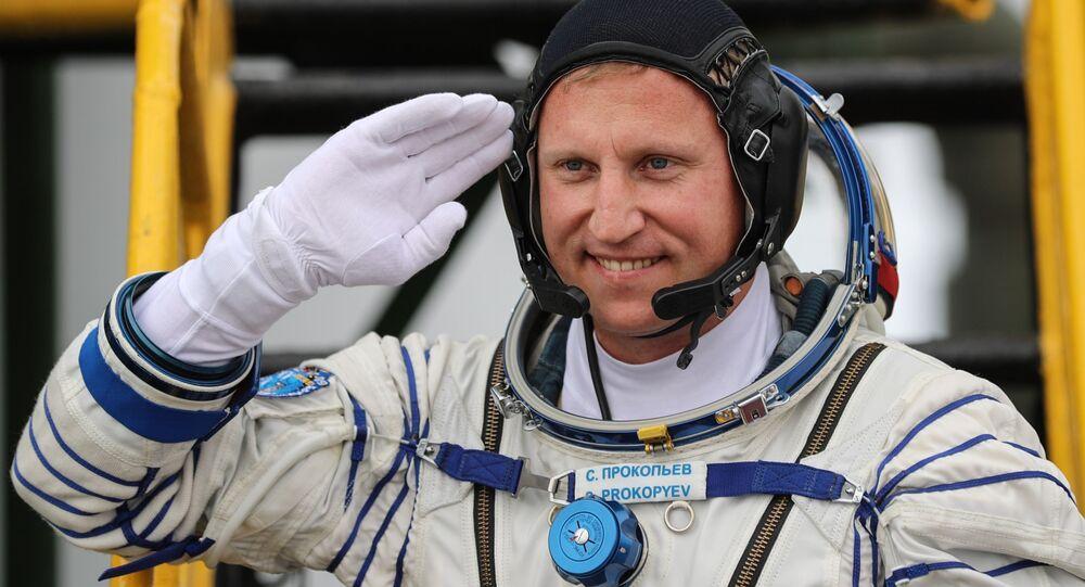 Kosmonauta Roskosmosu Siergiej Prokopjew