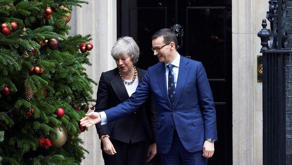 Premier Polski Mateusz Morawiecki z wizytą w Londynie u Theresy May, 20 grudnia 2018 - Sputnik Polska
