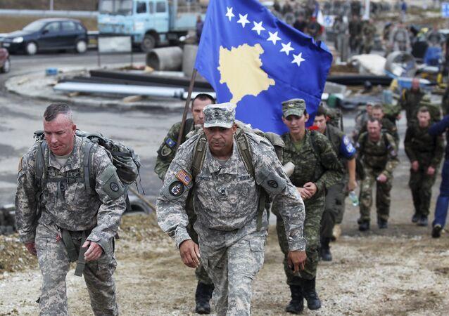 Amerykańscy żołnierze w Kosowie