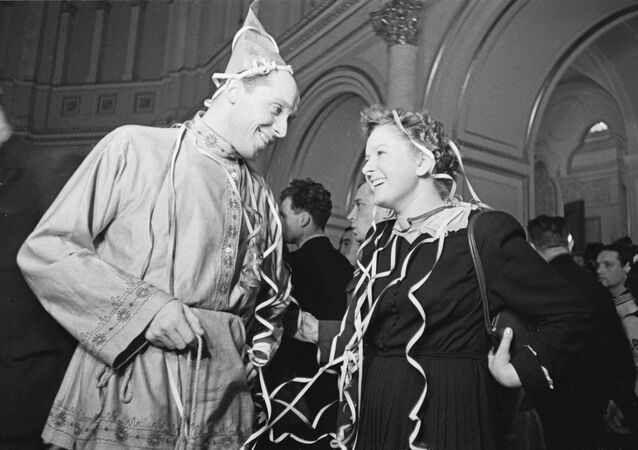 Noworoczny bal dla młodzieży w Kremlu, 1954 rok