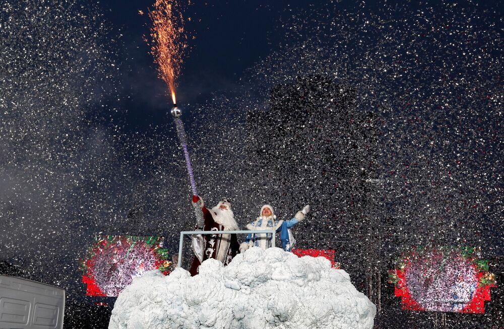 Świąteczna parada w Mińsku