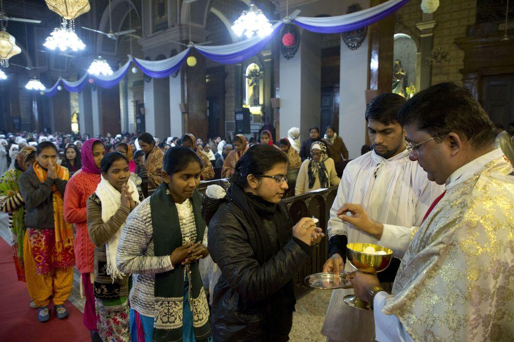 Msza święta w Indiach