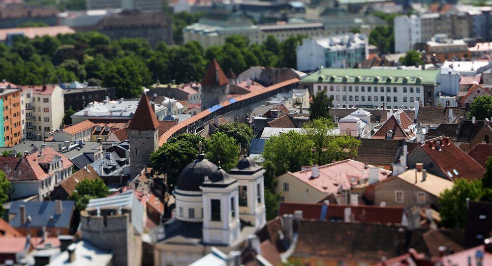 Widok na Stare Miasto ze szczytu kościoła św. Olafa w Tallinie