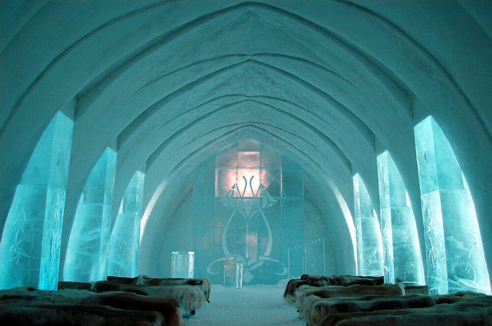 Hotel lodowy Icehotel w Jukkasjärvi, Szwecja