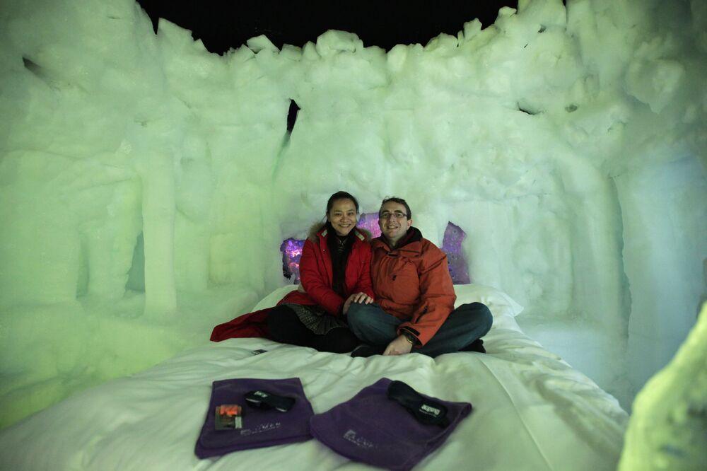 Hotel lodowy  w Holandii