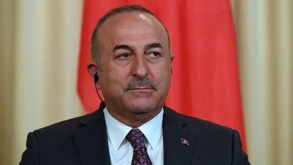 Minister spraw zagranicznych Turcji Mevlüt Çavuşoğlu. Zdjęcie archiwalne - Sputnik Polska