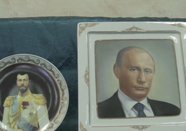 Talerze z Putinem