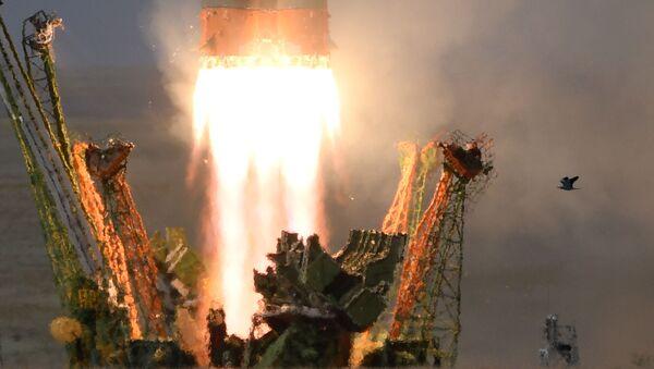 """Uruchomienie pojazdu startowego Sojuz-FG ze statkiem kosmicznym Sojuz MS-09 z platformy startowej """"Gagarinskaya"""" kosmodromu Bajkonur - Sputnik Polska"""
