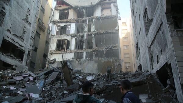 Konsekwencje izraelskiego ataku rakietowego na Strefę Gazy - Sputnik Polska
