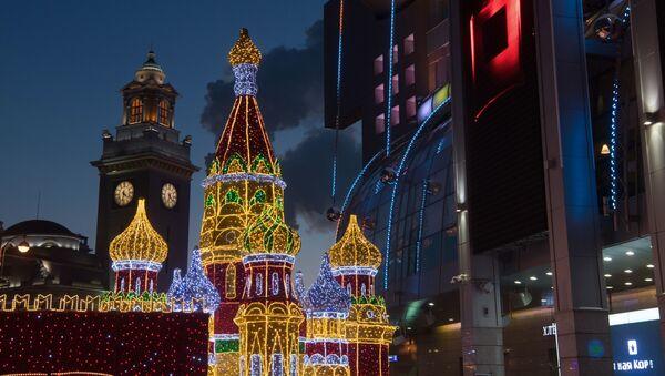 Noworoczne dekoracje, Moskwa - Sputnik Polska