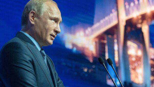 Prezydent Rosji Władimir Putin na otwarciu Wschodniego Forum Ekonomicznego we Władywostoku - Sputnik Polska