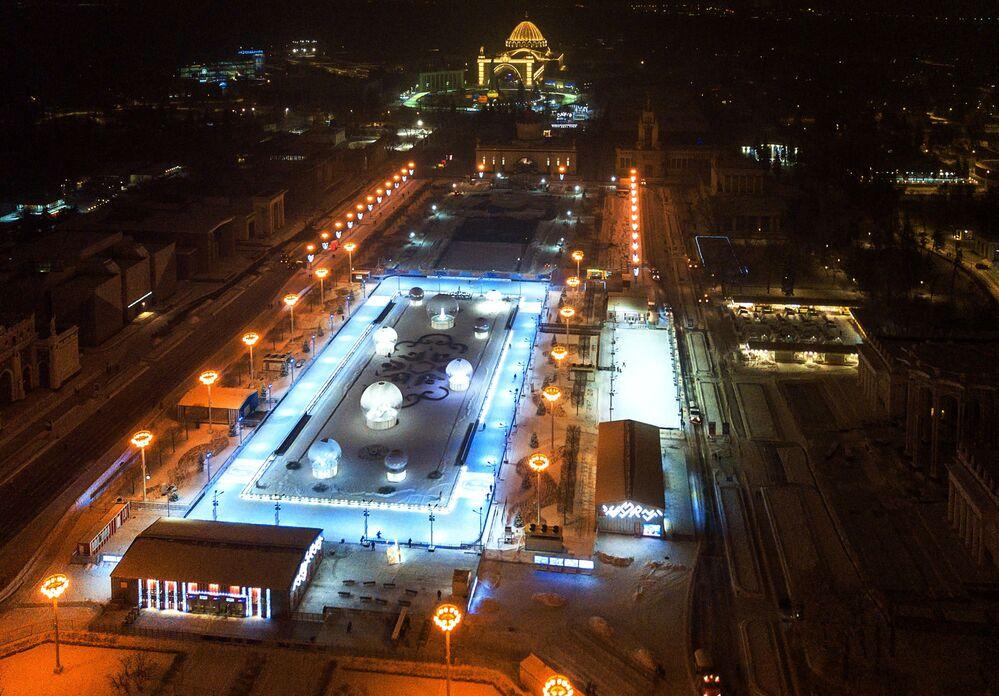 Lodowisko Kwietnik w parku WDNCh w Moskwie