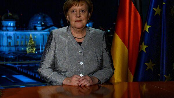 Kanclerz Niemiec Angela Merkel wygłasza orędzie noworoczne - Sputnik Polska