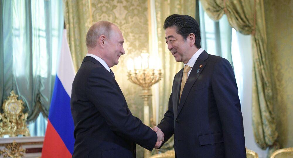 Władimir Putin i Shinzo Abe