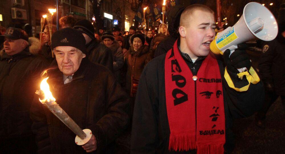 Pochód nacjonalistów z okazji rocznicy urodzin Stepana Bandery