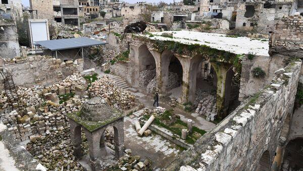 Zburzona synagoga w Aleppo - Sputnik Polska