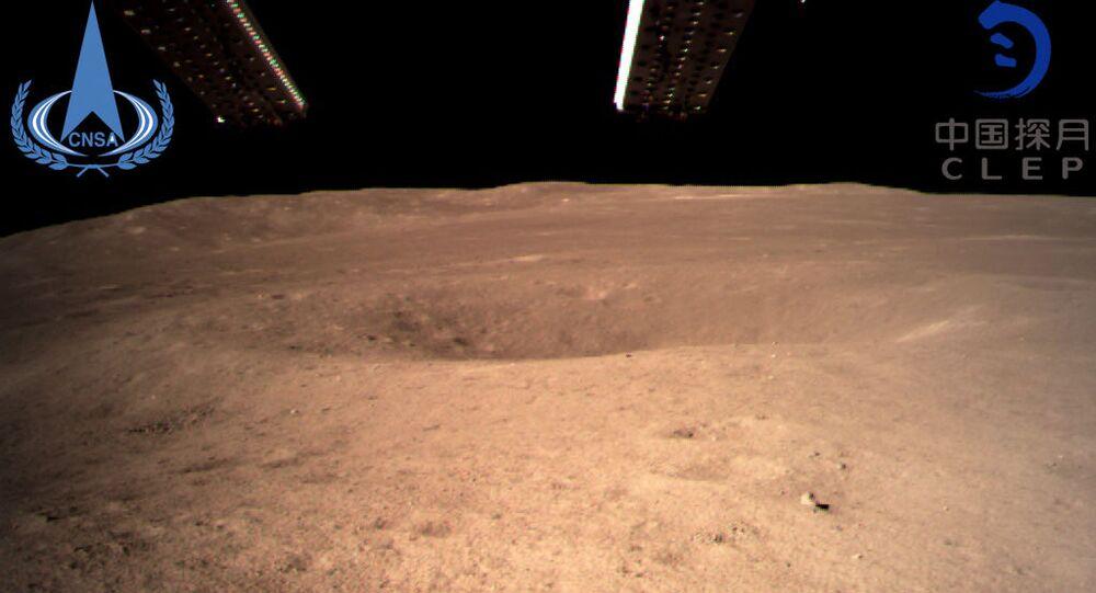 Pierwsze zdjęcie odwrotnej strony Księżyca, wykonane przez chiński aparat Chang'e-4 03.01.2019 r.