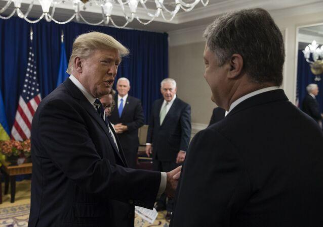 Donald Trump i Petro Poroszenko, zdjęcie archiwalne