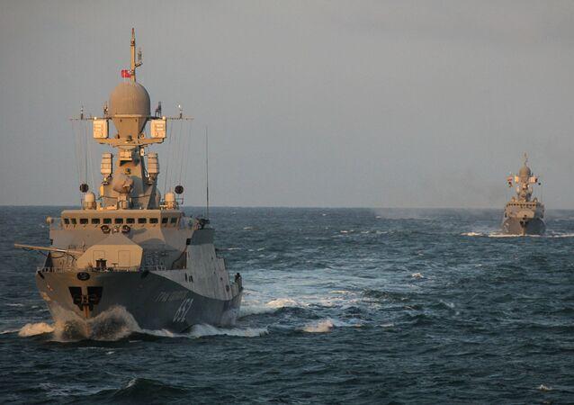 Okręty na Morzu Kaspijskim