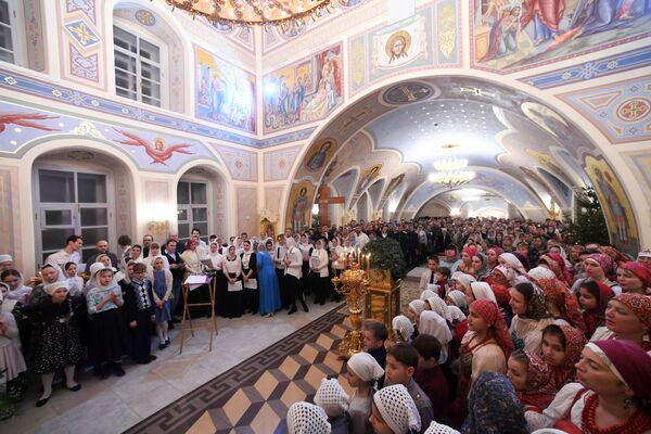 Nabożeństwo Bożonarodzeniowe w Kościele Zesłania Ducha Świętego w Kazaniu - Sputnik Polska