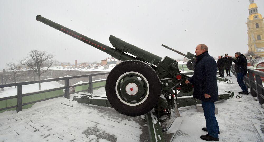 Prezydent Rosji Władimir Putin wystrzelił z armaty