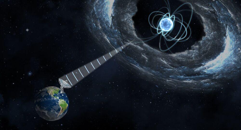 Magnetar wytwarzający szybkie błyski radiowe