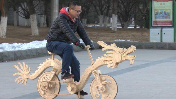 Rower z patyczków od lodów - Sputnik Polska