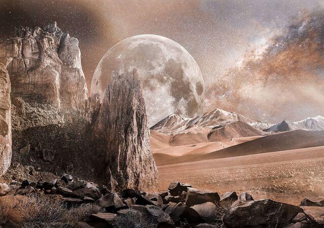 Artystyczne przedstawienie Marsa