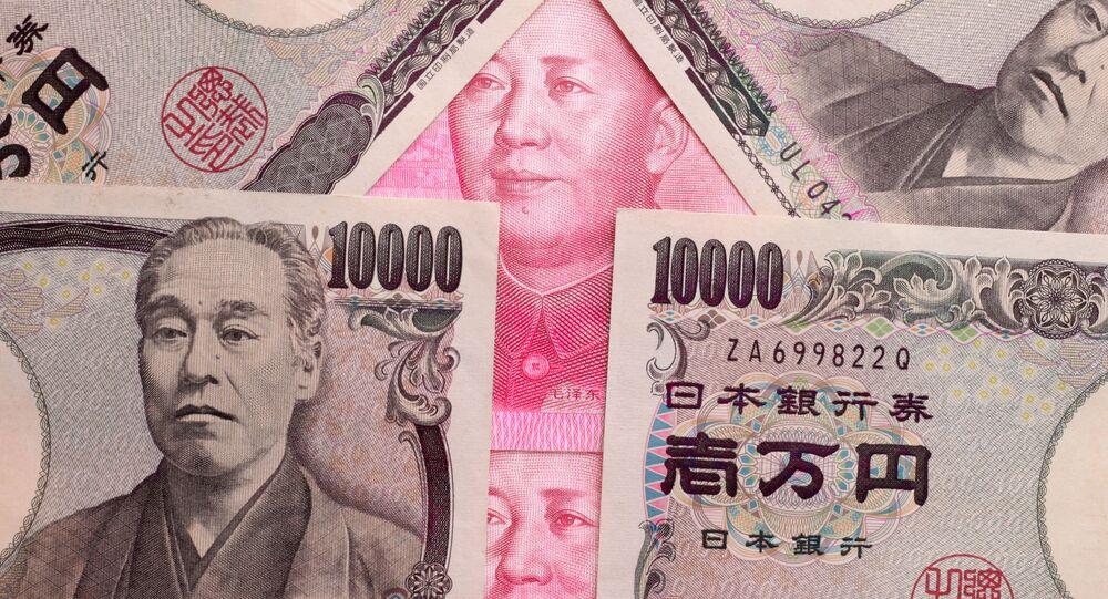 Jena japońska i chiński juan