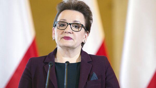 Minister edukacji narodowej Anna Zalewska - Sputnik Polska