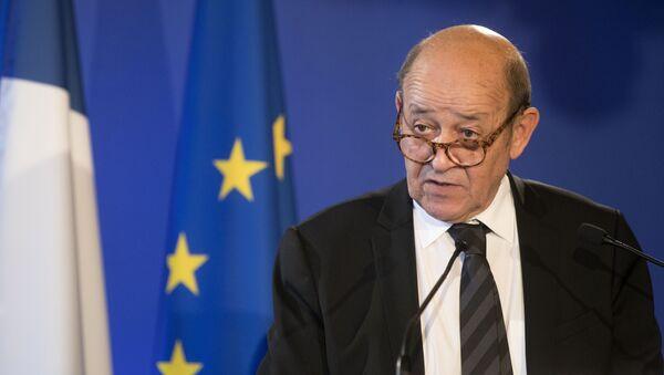 Minister spraw zagranicznych Francji Jean-Yves Le Drian - Sputnik Polska