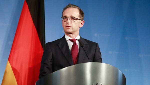 Minister spraw zagranicznych Niemiec Heiko Maas w Berlinie - Sputnik Polska