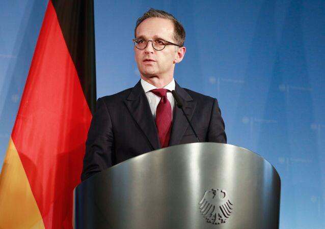Minister spraw zagranicznych Niemiec Heiko Maas w Berlinie