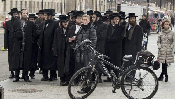 Żydzi przed Białym Domem - Sputnik Polska