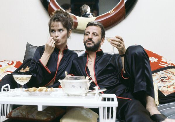 Ringo Starr - muzyk i perkusista grupy The Beatles z żoną Barbarą Bach - Sputnik Polska