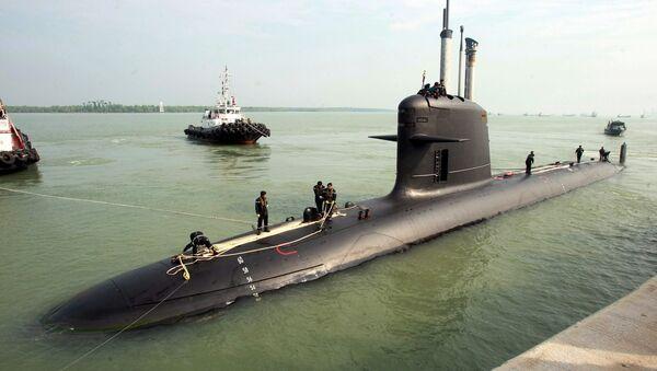 Francuski okręt podwodny typu Scorpène - Sputnik Polska