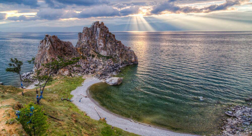 Widoki jeziora Bajkał