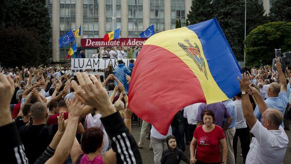 Akcje protestacyjne w centrum Kiszyniowa, Mołdawia - Sputnik Polska