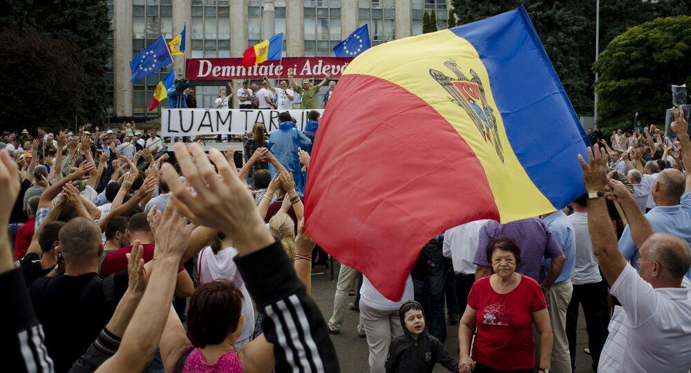 Akcje protestacyjne w centrum Kiszyniowa, Mołdawia