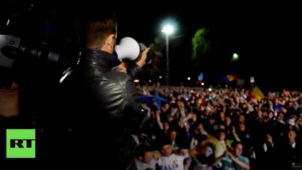 Protestujący W Kiszyniowie - Sputnik Polska