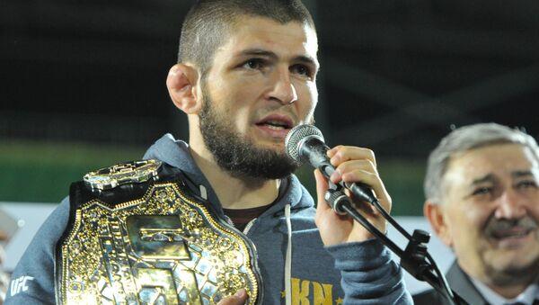 Rosyjski zawodnik mieszanych sztuk walki (MMA) Khabib Nurmagomedov. Zdjęcie archiwalne - Sputnik Polska