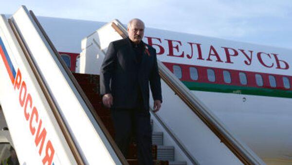 Przylot prezydenta Białorusi Alaksandra Łukaszenki do Moskwy - Sputnik Polska